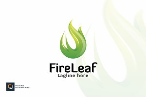 Fire Leaf - Logo Template