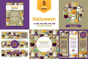 Halloween Party Vector Flyers