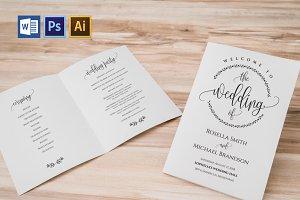Wedding Program folded Wpc359