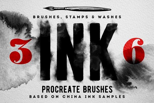 Procreate Ink brushes , set of 36