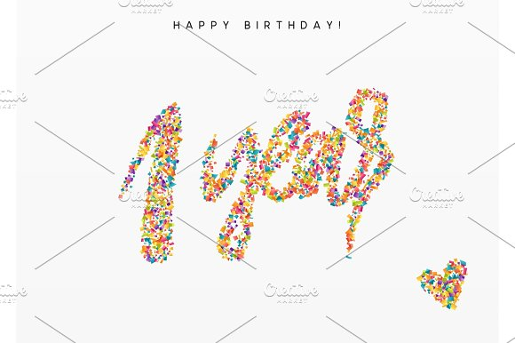 One Years Lettering Sign From Confetti