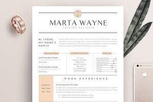 Resume Template 3 Pages | Peach