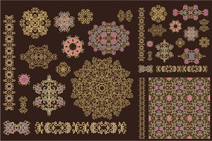 Set od decorative elements