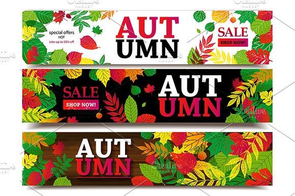 Autumn Sale Banners Big Set