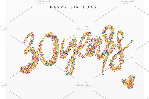 Thirty Years Lettering Sign From Confetti