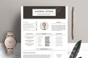 Resume Template 3 Page Pack | Brown