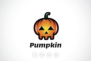 Halloween Skull Logo Template