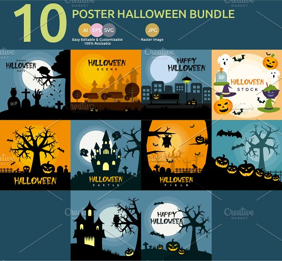 Poster Halloween Bundle