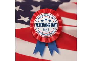 Veterans Day badge.