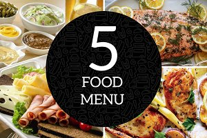 5 Classy Food Menu Template