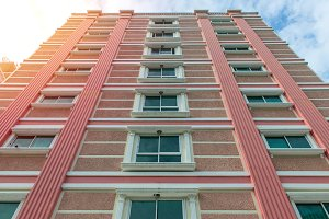 Modern apartment buildings exteriors