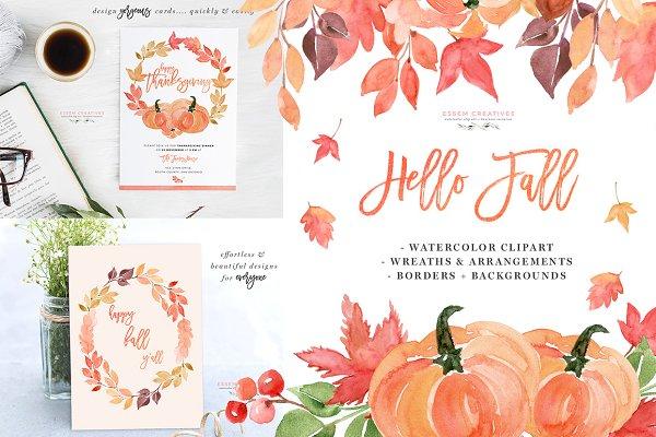 Fall Wreaths & Autumn Leaves Clipar…