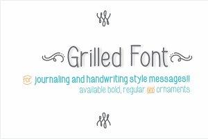 Grilled Font
