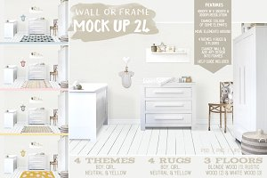 Kids Room Wall/Frame Mock Up 24