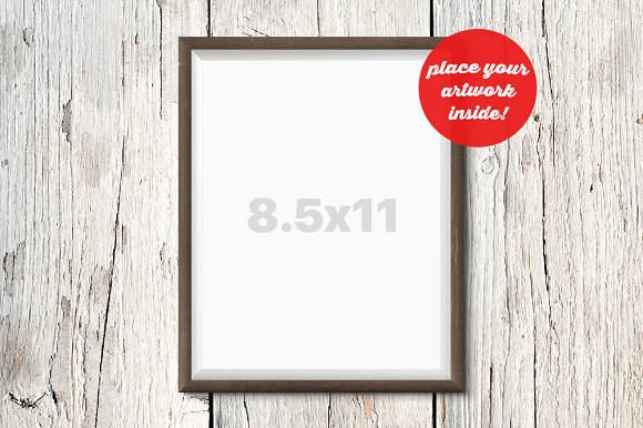 Frame Mockup On The Wooden Wall