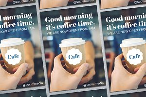 Coffee Time Flyer Mockup