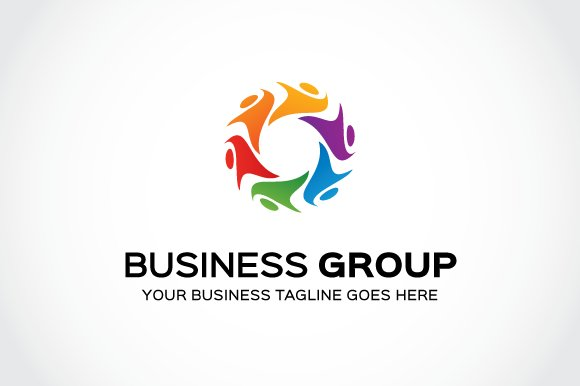 Business group logo template logo templates creative market business group logo template logos flashek Images