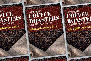 Coffee Roasters Flyer Mockup
