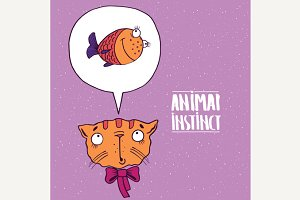 Animal instinct from cat to fish