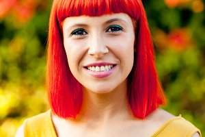 Beautiful red haired woman