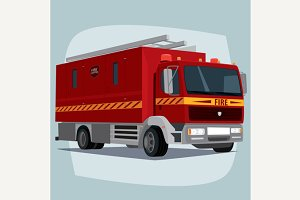 Isolated fire engine car