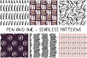 Pen and ink - seamless patterns