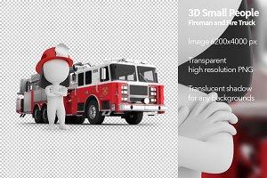 Fireman and Fire Truck