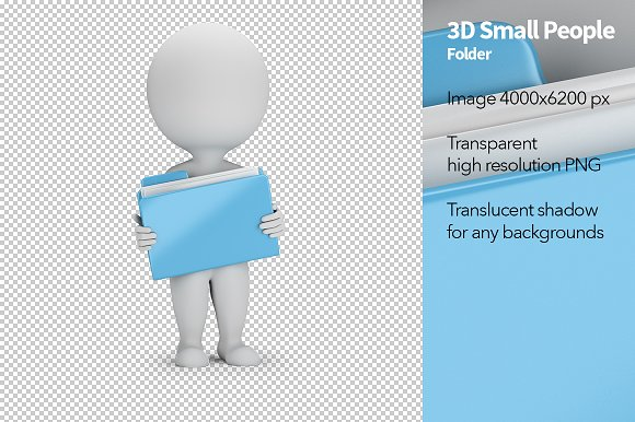 3D Small People Folder