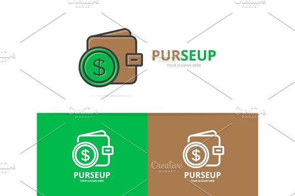 Vector Of Wallet Logo Unique Purse And Bank Logotype Design Template