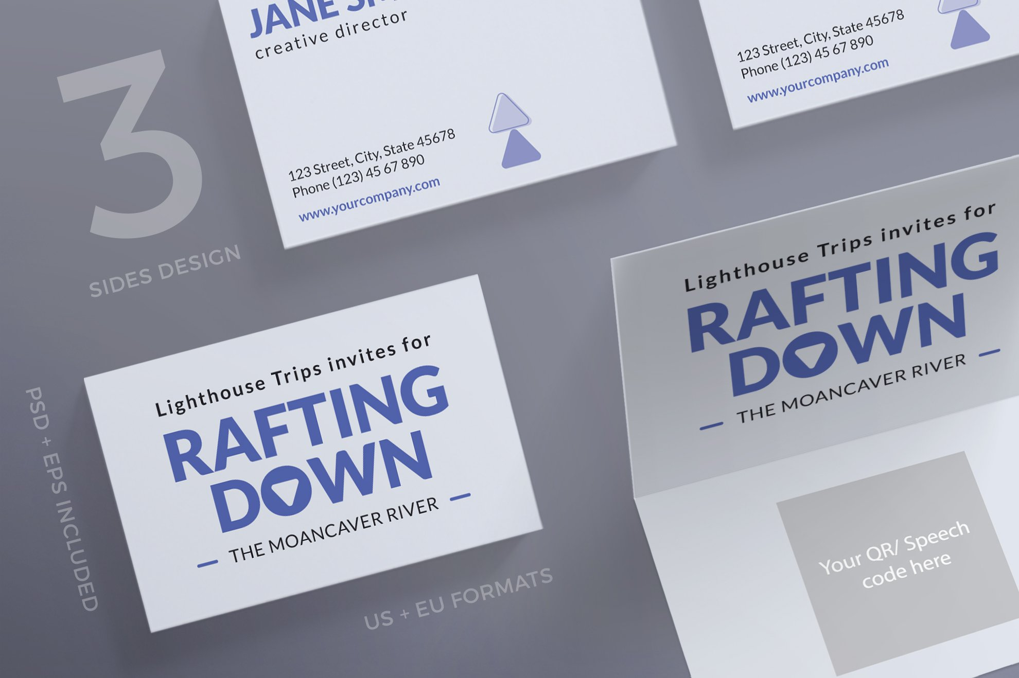 Business Cards | Rafting ~ Business Card Templates ~ Creative Market