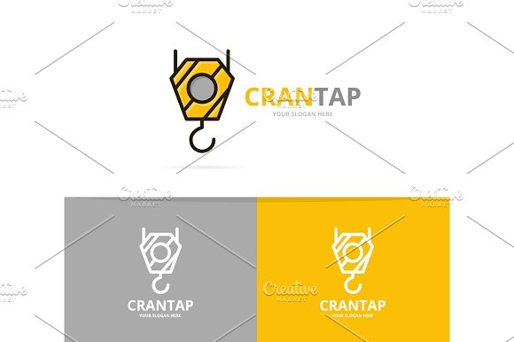vector of crane hook logo design template logo templates