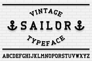 Vintage english alphabet - bold