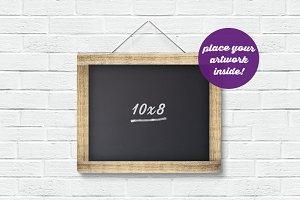 Framed Chalkboard Mockup