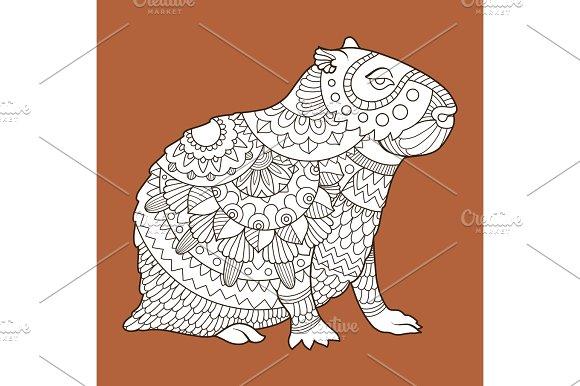 Capybara Fashion Vector Illustration