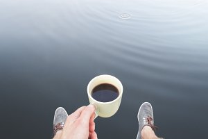 Coffee and water.