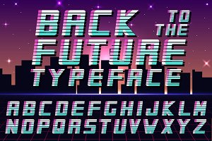 Futuristic english alphabet - 80-90s