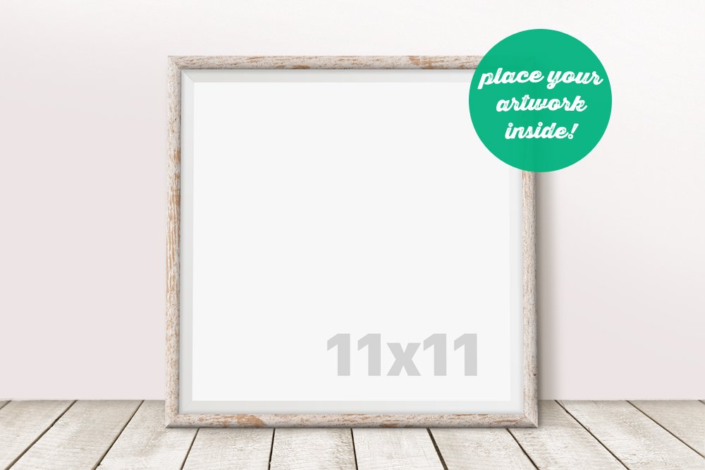 Square Frame Mockup on the Floor ~ Product Mockups ~ Creative Market