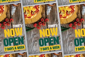 Pizza Restaurant Flyer Mockup