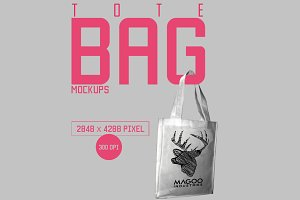 Canvas Totebag Mockup