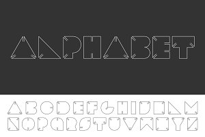 Creative minimal english alphabet.