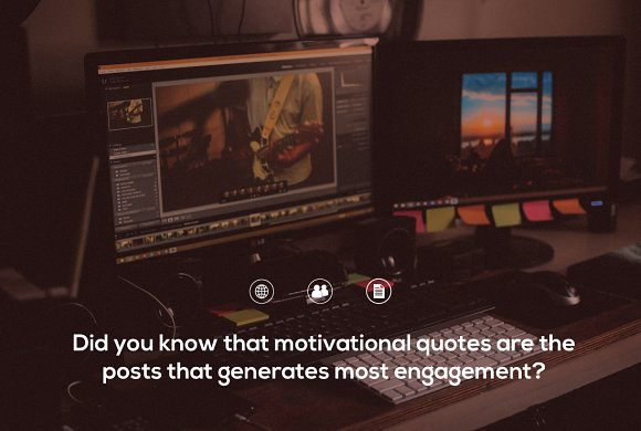 60 GIF/Video Motivational Quotes in Social Media Templates - product preview 1