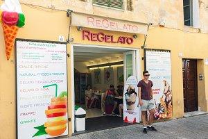 Traditional italian ice cream shop