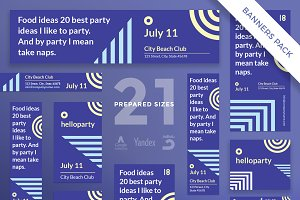 Banners Pack | Hello Party