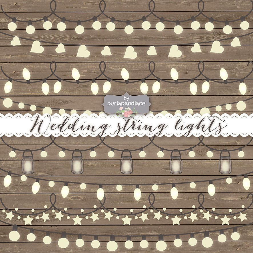 Vector String Lights Illustrations Creative Market