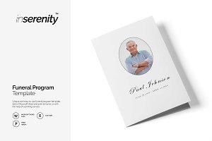 Funeral program template | BI-fold