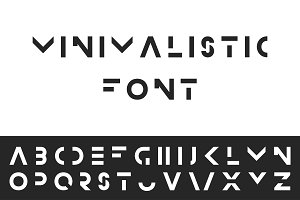 Minimalistic font - english alphabet