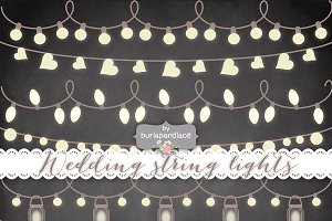 Chalkboard Vector string lights