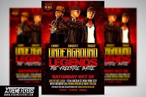 Hip Hop Battle Flyer Template