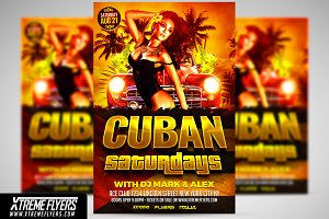 Cuban Latin Flyer Template
