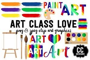 Art Class Love Graphic Text